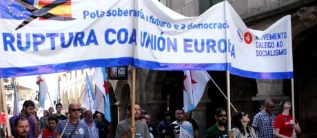 Con Rajoy e Merkel en Compostela digamos Galiza fóra da Unión Europea!