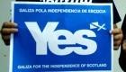 Solidariedade co pobo escocés. YES/AYE Scotland!