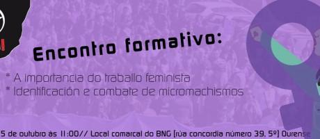 Encontro formativo feminista en Ourense